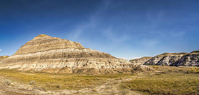 Panoramic View Of The Badlands Of Alberta  Original by Yves Gagnon