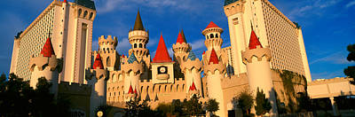 Panoramic View Of The Excalibur Hotel Art Print by Panoramic Images