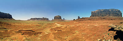 Panoramic View Of The Monument Valley  Art Print by George Oze