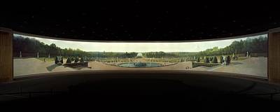 Panoramic View Of The Palace And Gardens Of Versailles Print by MotionAge Designs