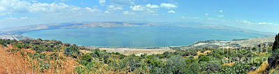 Photograph - Panoramic View Of The Sea Of Galilee by Lydia Holly