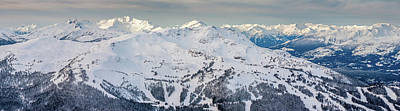 Photograph - Panoramic View Of The Snowy Whistler Summit by Pierre Leclerc Photography