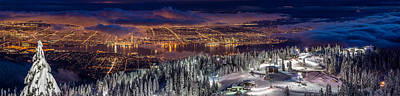 Photograph - Panoramic View Of Vancouver From Grouse by Pierre Leclerc Photography