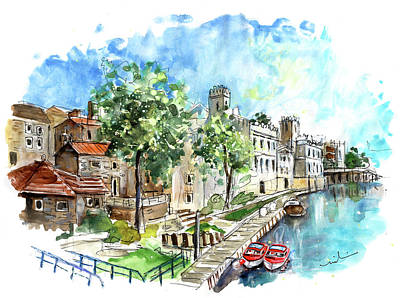 Painting - Panoramic View Of York 01 by Miki De Goodaboom