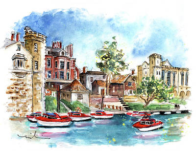Painting - Panoramic View Of York 02 by Miki De Goodaboom
