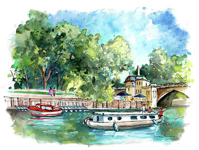 Painting - Panoramic View Of York 03 by Miki De Goodaboom