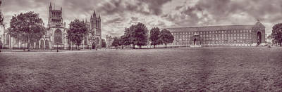 Photograph - Panoramic View Over Bristol Collage Green A by Jacek Wojnarowski