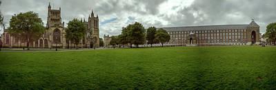 Photograph - Panoramic View Over Bristol Collage Green B by Jacek Wojnarowski