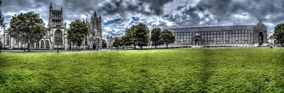 Photograph - Panoramic View Over Bristol Collage Green C by Jacek Wojnarowski