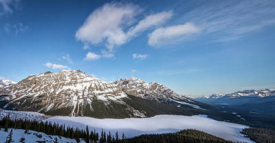 Panoramic View Peyto Lake Banff National Park Original
