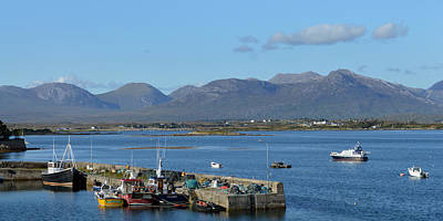 Photograph - Panoramic View Roundstone Harbour by Terence Davis