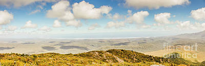 Lookout Photograph - Panoramic Views From Mount Zeehan To Trial Harbour by Jorgo Photography - Wall Art Gallery