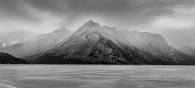 Panoramic Winter Storm Lake Minnewanka  Original by Yves Gagnon