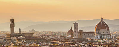 Florence Photograph - Panorama Of Florence by Delphimages Photo Creations