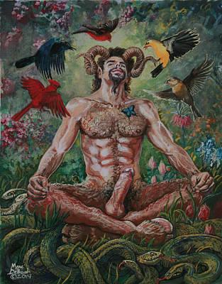 Painting - Pan's Awakening   by Marc  DeBauch