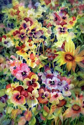 Painting - Pansies by Ann Nicholson