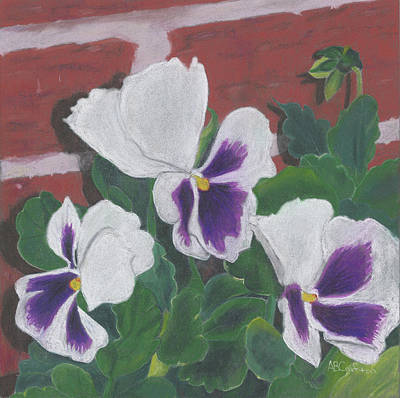 Painting - Pansy Trio by Arlene Crafton