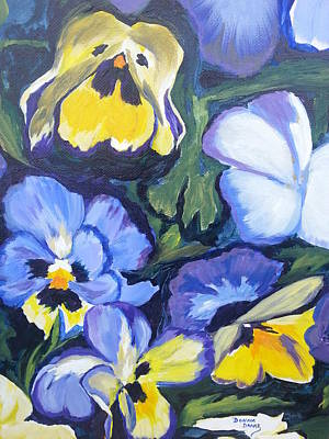 Painting - Pansies by Donna Drake