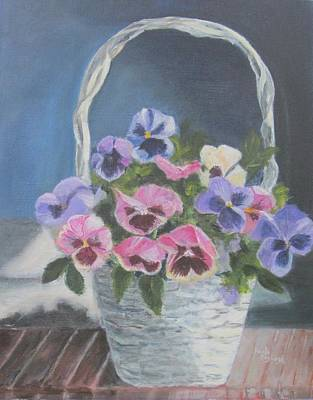 Painting - Pansies For A Friend by Paula Pagliughi