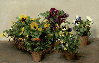 Painting - Pansies by Henri Fantin Latour
