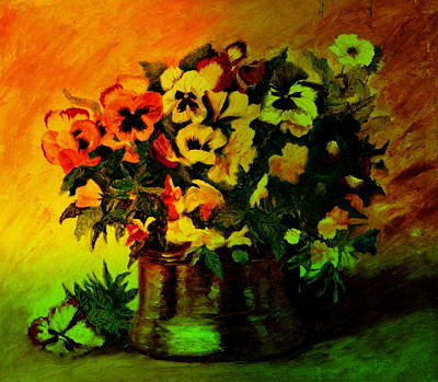Pansies In The Vase Art Print