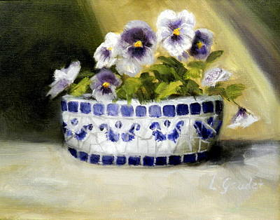 Painting - Pansies by Lenore Gaudet
