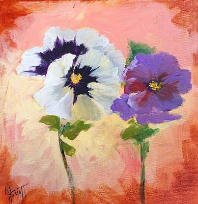 Painting - Pansies by Mary Scott