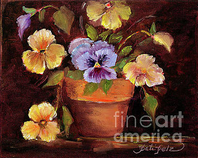 Painting - Pansies by Pati Pelz