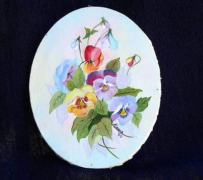 Painting - Pansies Posing by Alanna Hug-McAnnally