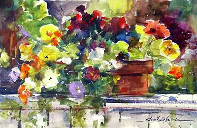 Painting - Pansies by Sandra Strohschein