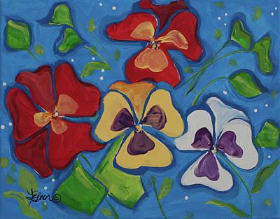 Painting - Pansies by Terri Einer