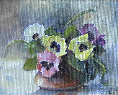 Still-life Painting - Pansies by Tigran Ghulyan