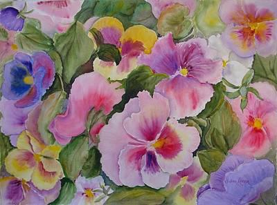 Pansies Too Art Print by Vivian Larson