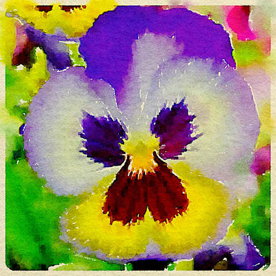 Digital Art - Pansy Angel by Lisa Schwaberow
