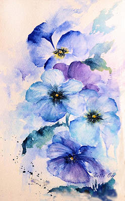 Painting - Pansy Blues by Bette Orr