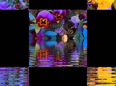 Digital Art - Pansy Delight 1 by Nancy Pauling