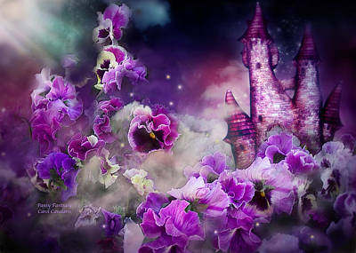 Castle Mixed Media - Pansy Fantasy by Carol Cavalaris