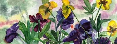 Painting - Pansy Field by Lynne Reichhart