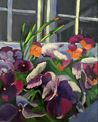 Painting - Pansy Frenzy by Lynne Atwood