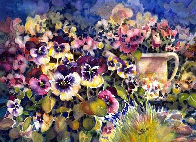 Painting - Pansy Garden by Ann Nicholson