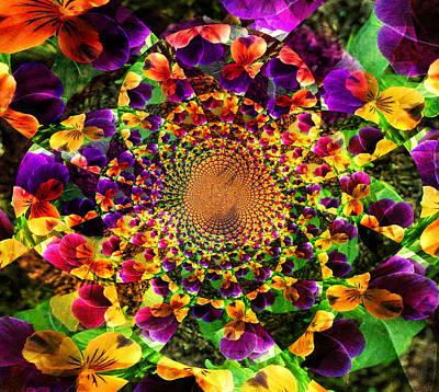Pansy Kaleidoscope  Art Print by Cathie Tyler