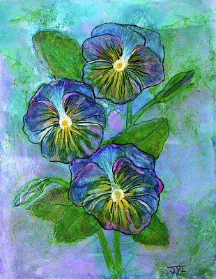 Pansy On Water Art Print by Janet Immordino