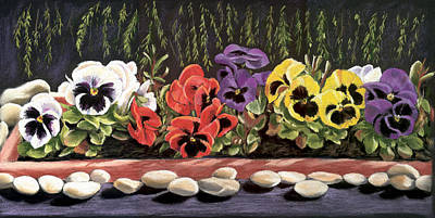 Painting - Pansy Palette by Vanda Luddy