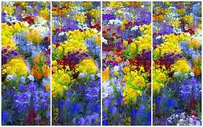 Photograph - Pansy Panel by Jessica Jenney
