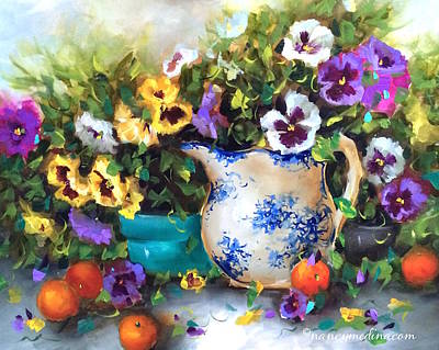 Pansy Painting - Pansy Panoply by Nancy Medina