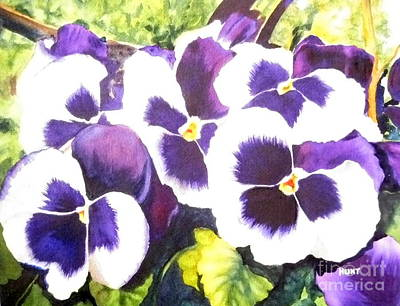 Painting - Pansy Party by Shirley Braithwaite Hunt