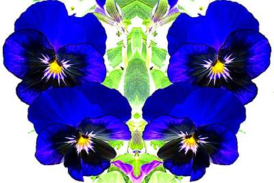 Art Print featuring the photograph Pansy Pattern by Marianne Dow