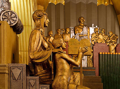 Statue Portrait Photograph - Pantages Theatre Interior - Los Angeles by Mountain Dreams