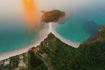 Photograph - Pantai Beach Aerial View, Sabah, Malaysia by Pradeep Raja PRINTS