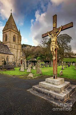 Photograph - Pantasaph Church Crucifixion by Adrian Evans